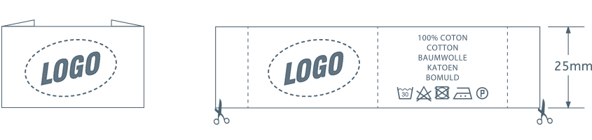 Clothing label with your own custom logo